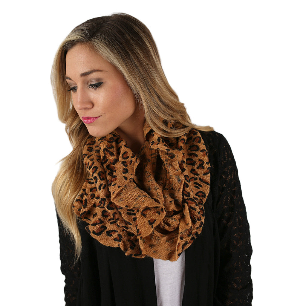 Hot Cocoa Nights Infinity Scarf Tan