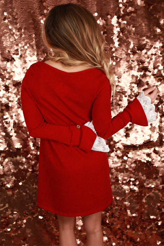Queen B Dress in Red