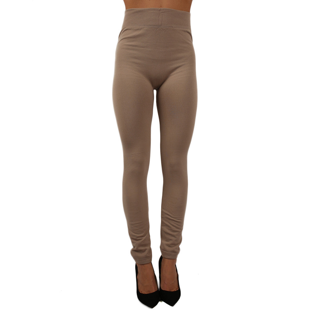 Fleece Legging in Beige