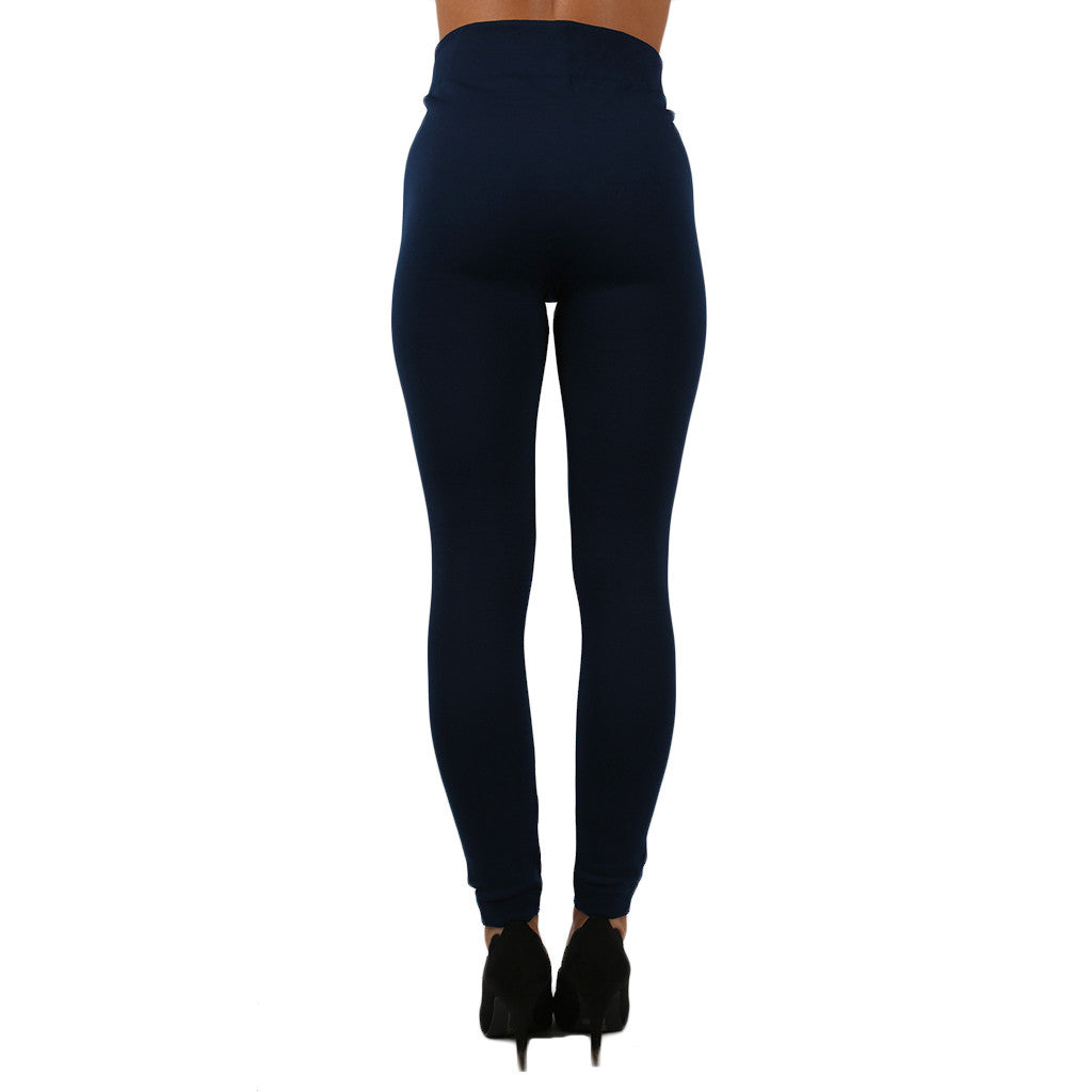 Fleece Legging in Navy