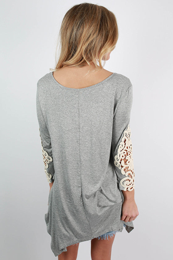 Timeless Beauty Top in Heather Grey