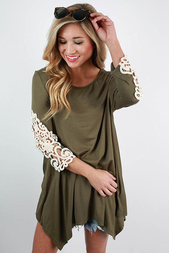 Timeless Beauty Top in Olive