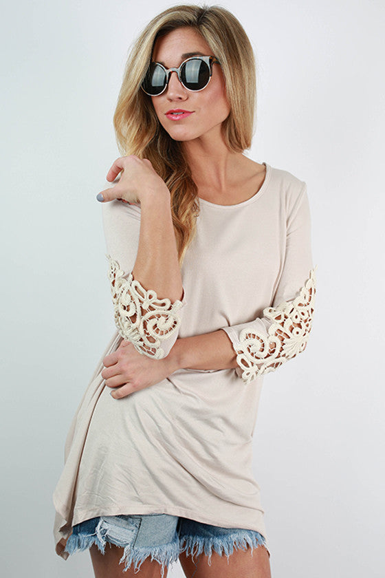Timeless Beauty Top in Stone