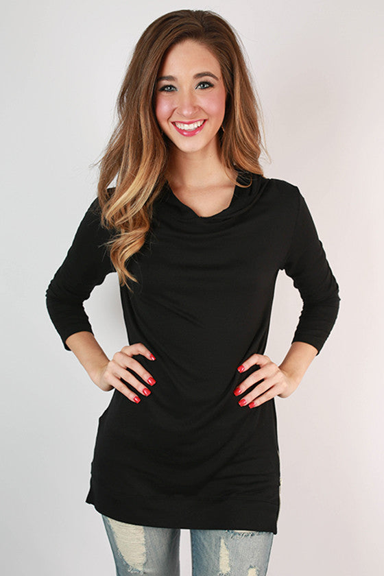 Denver Days French Terry Tunic in Black