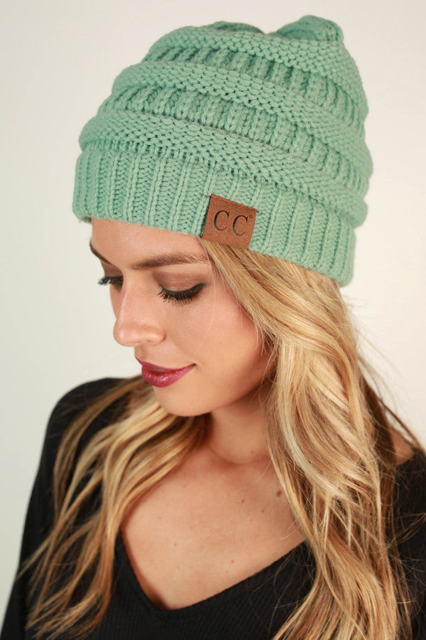 Beanie Beautiful in Mint