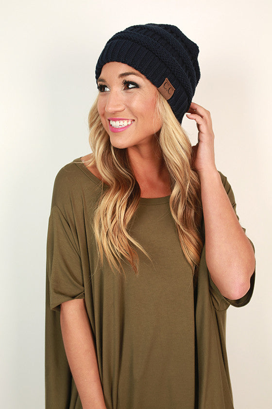 Beanie Beautiful in Navy