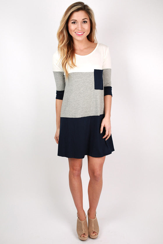 Girl's Best Friend Dress in Grey