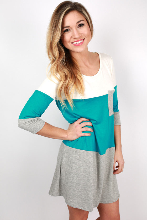 Girl's Best Friend Dress in Turquoise