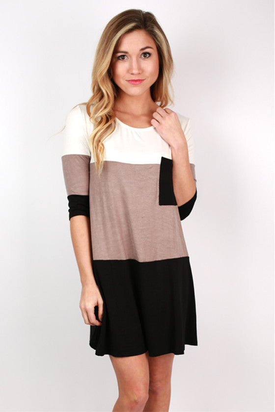 Girl's Best Friend Dress in Taupe