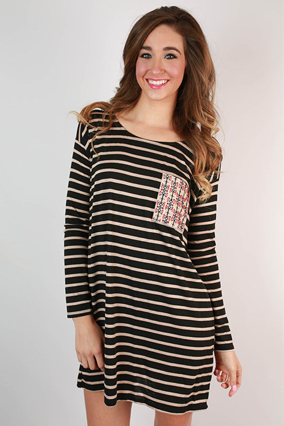 On The Line Stripe Tunic Dress
