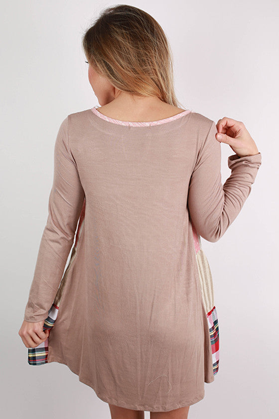 We Are The Free Flutter Dress in Taupe