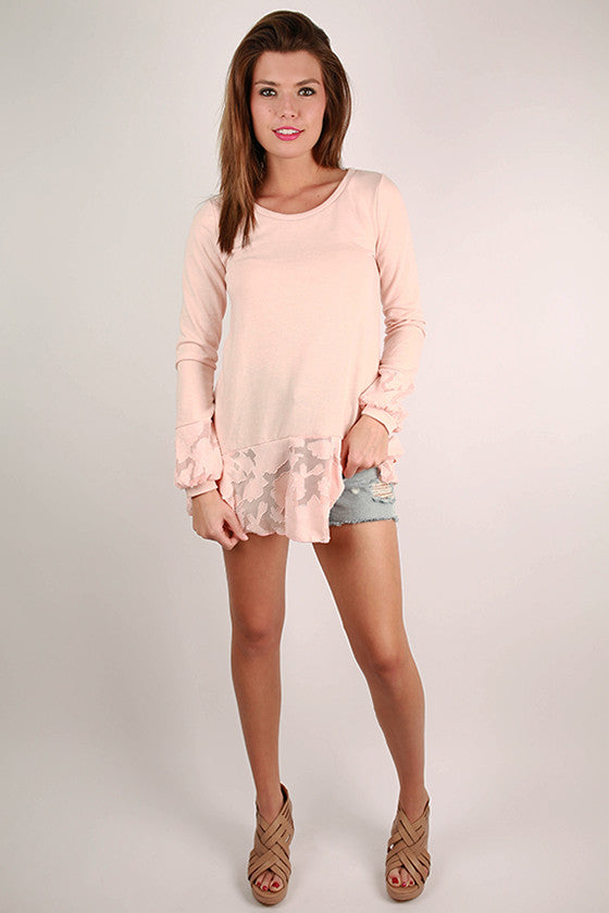 Love Found in Paris Top in Peach