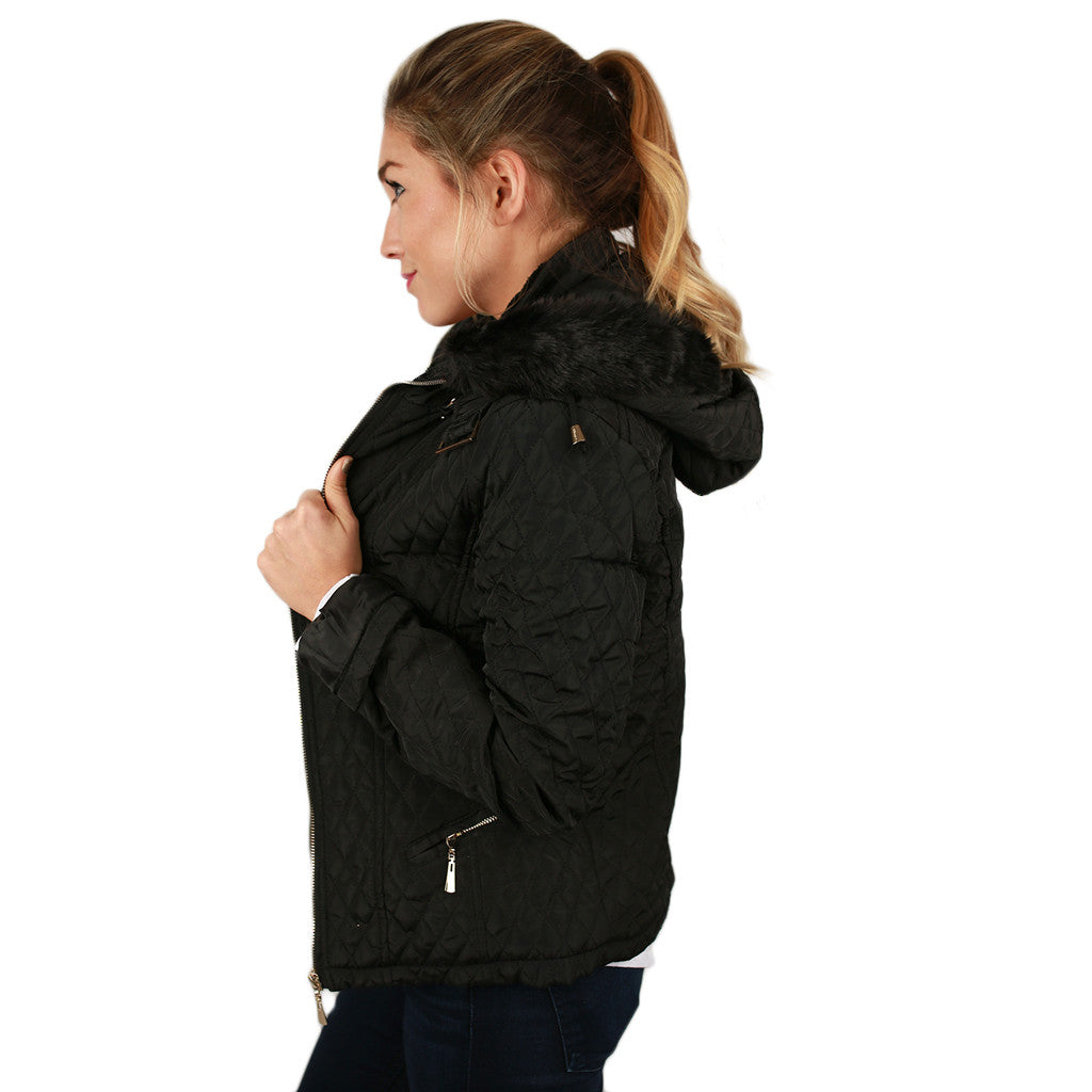 Quilted Cuddles Jacket in Black