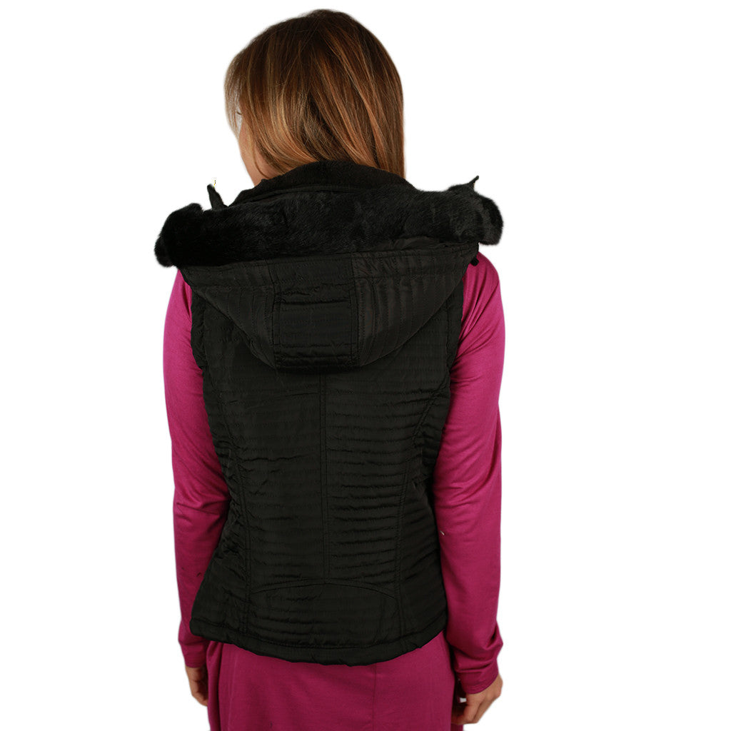 Dream Girl Quilted Vest in Black