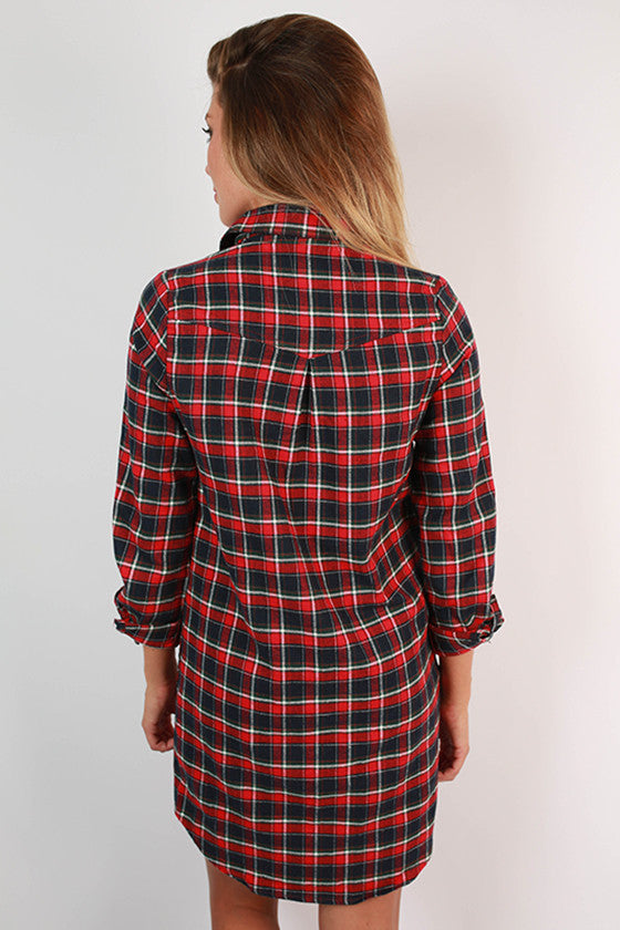 Simply Smitten Flannel Dress