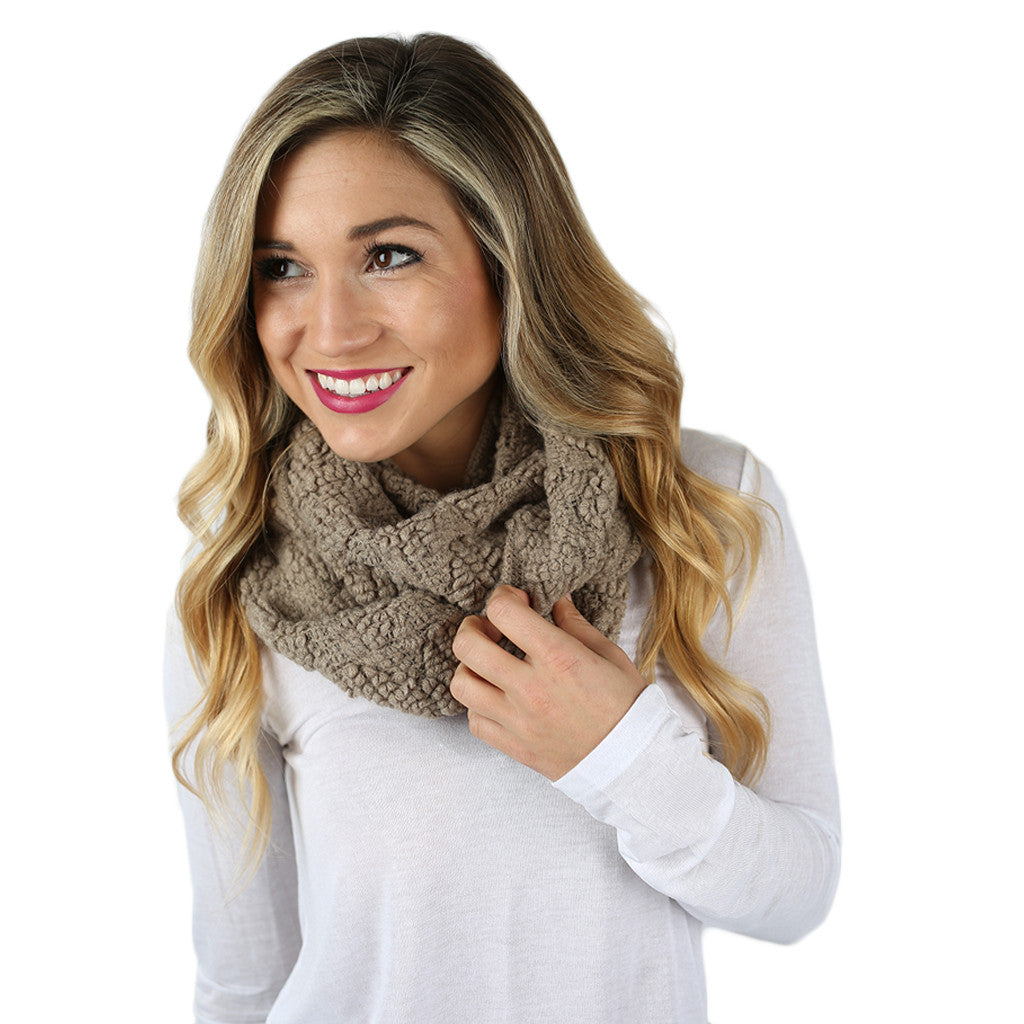 Cozy on the Slopes Infinity Scarf in Beige