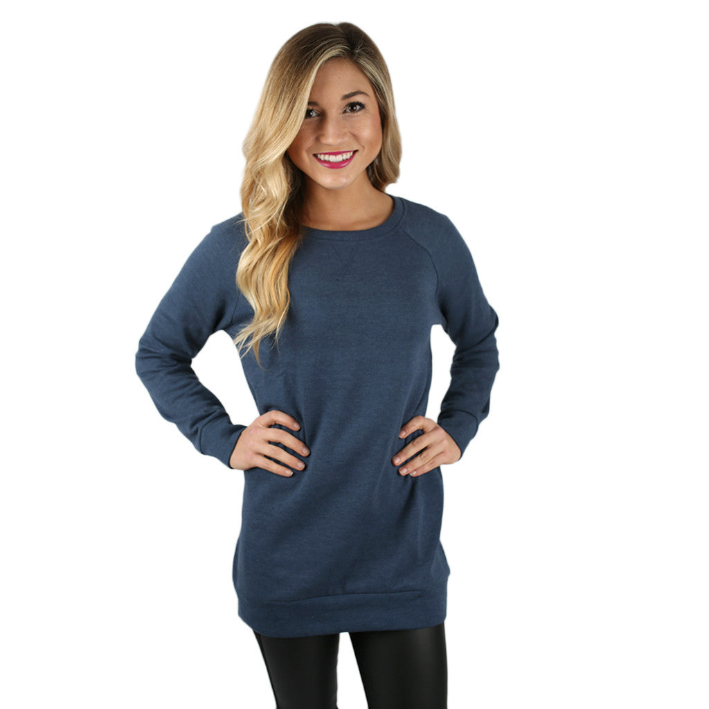 I'll Be Your Sweetheart Sweatershirt in Navy