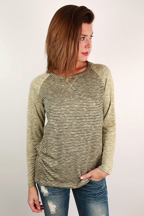 Oh So Comfy Tee in Oatmeal