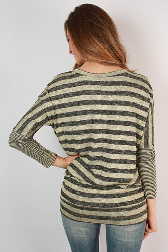 Must Be Bliss V-Neck Tunic in Oatmeal