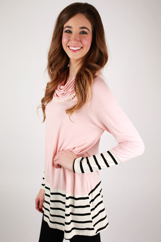 Stripe Dreaming Tunic in Pink