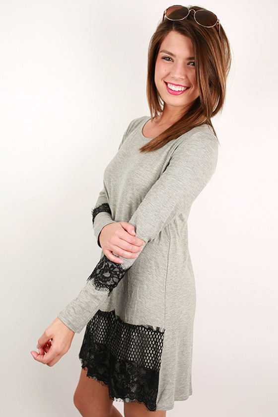 Downtown Dancing Dress in Heather Grey