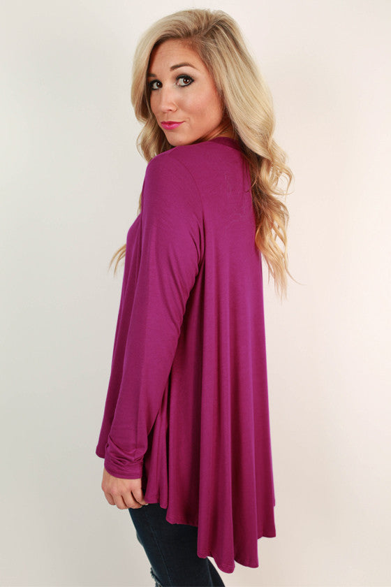 Chic for the Season Top in Magenta