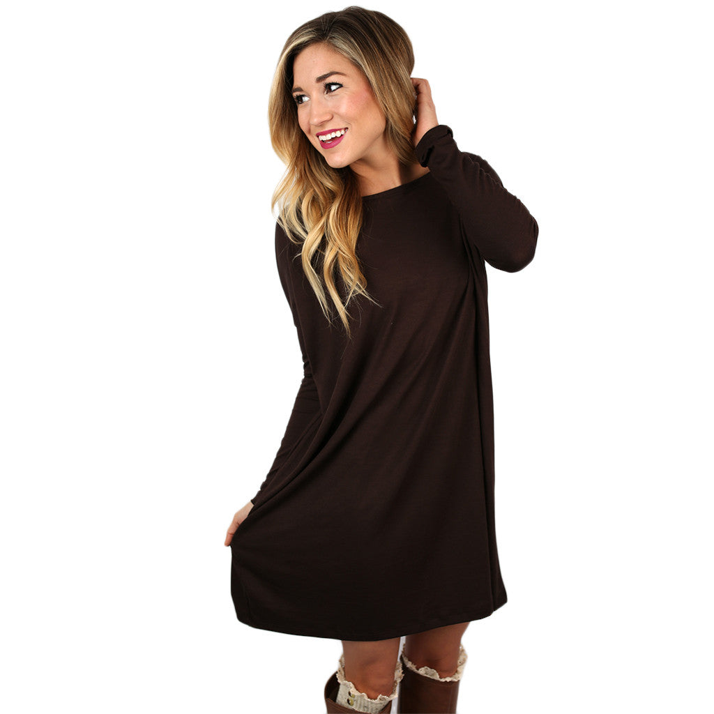 Perfect Little Tunic in Brown