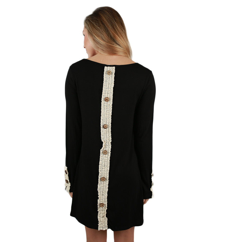 Feeling Ambitious Tunic Dress in Black