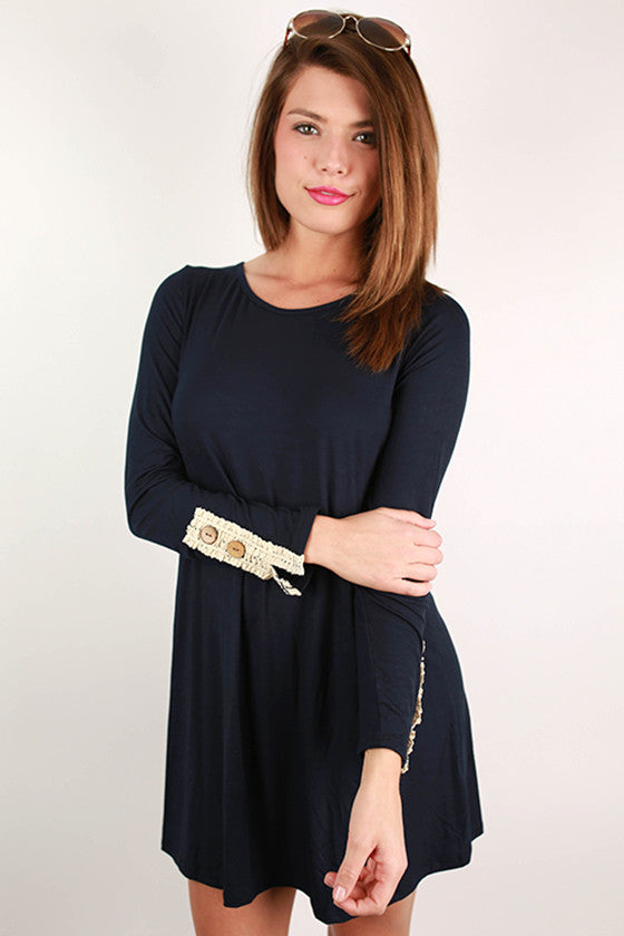 Feeling Ambitious Tunic Dress in Navy