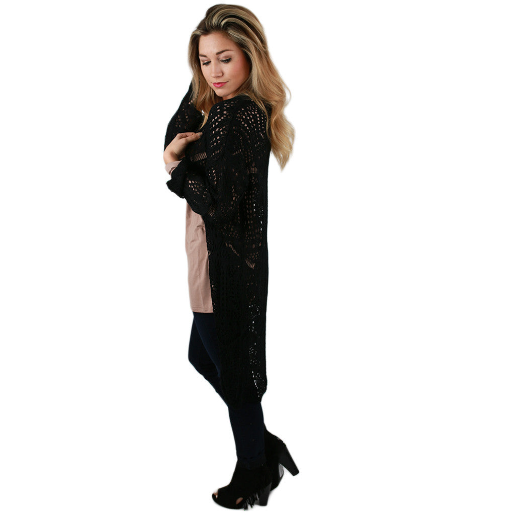 Denver Dreaming Cardi in Black