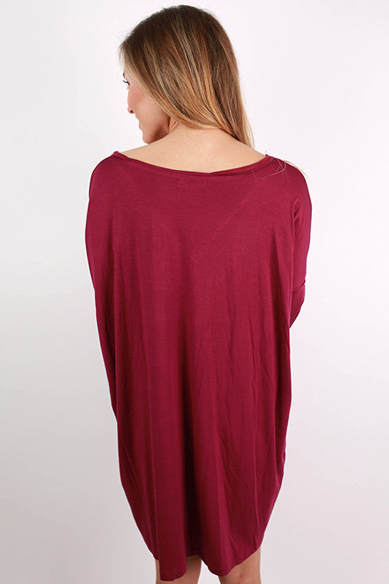 PIKO V-Neck Tunic in Royal Lilac