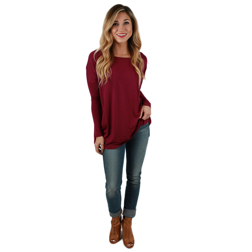 PIKO Long Sleeve Tee in Royal Lilac