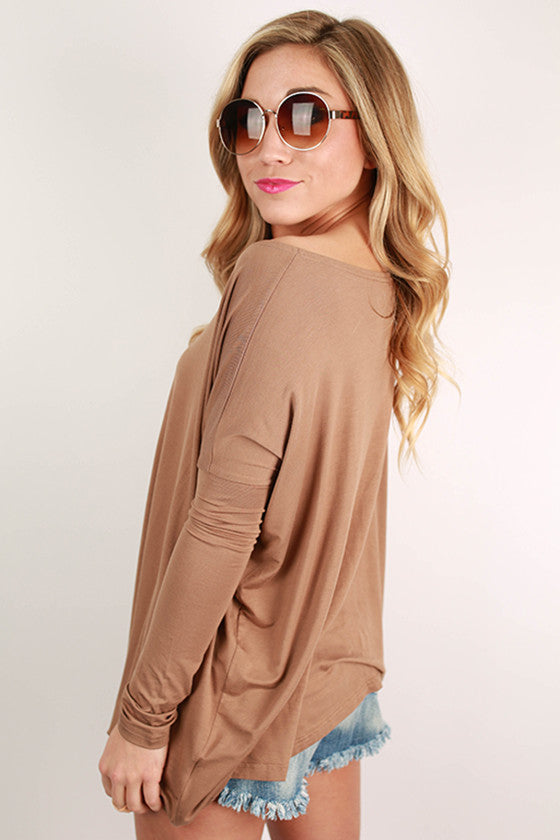 PIKO Long Sleeve Tee in Mocha
