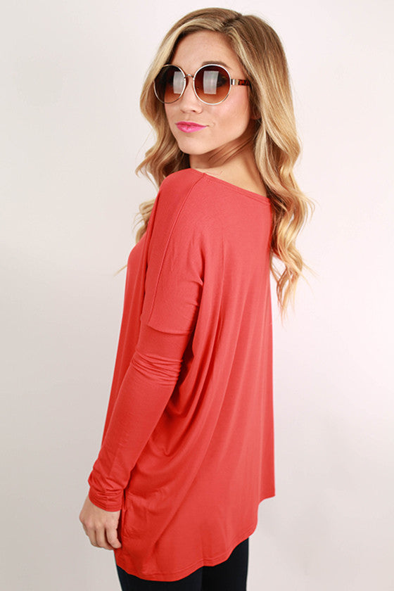 PIKO Long Sleeve Tee in Dark Orange