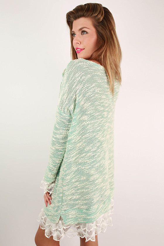 Hello, Darling Sweater Dress in Mint