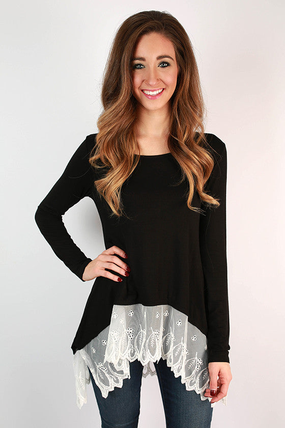 Time of My Life Top in Black