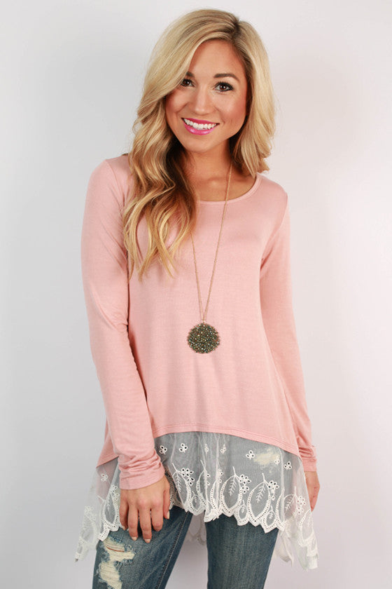 Time of My Life Top in Blush