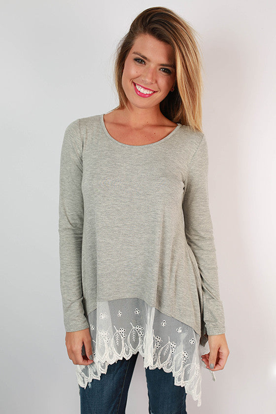 Time of My Life Top in Grey