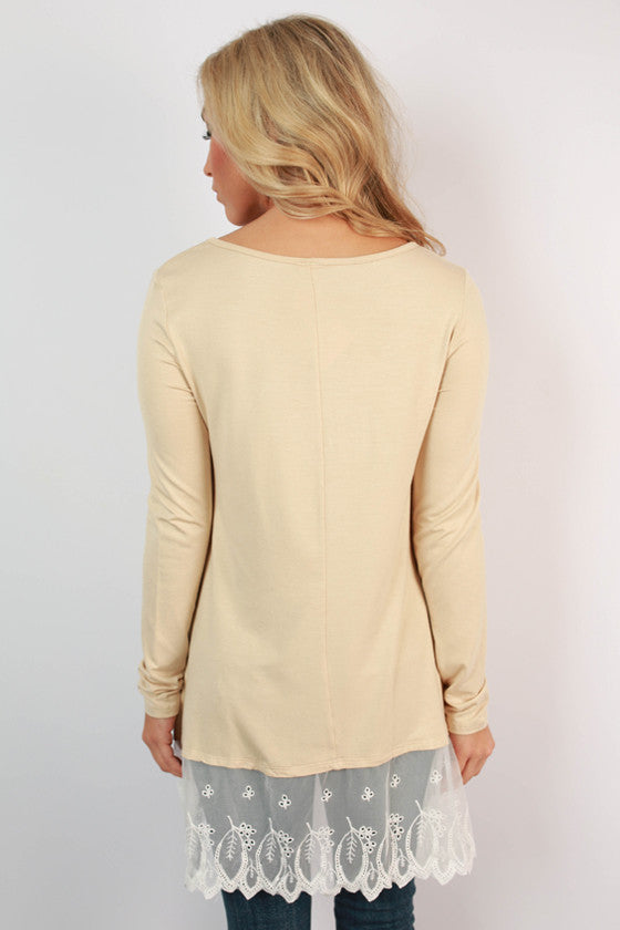Time of My Life Top in Beige