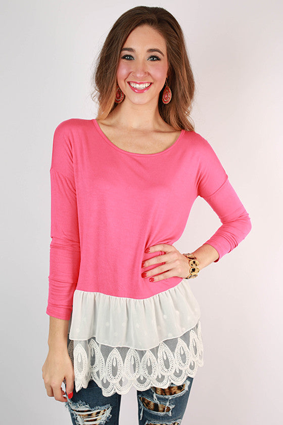 Weekend at Princeton Top in Raspberry