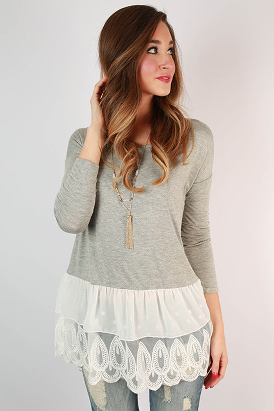 Weekend at Princeton Top in Grey