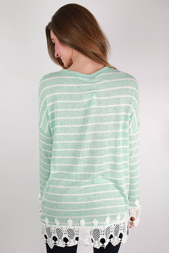 Repeat After Me Stripe Top in Mint