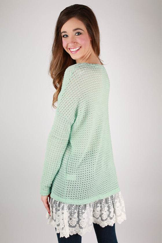 Ever So Lucky Top in Mint
