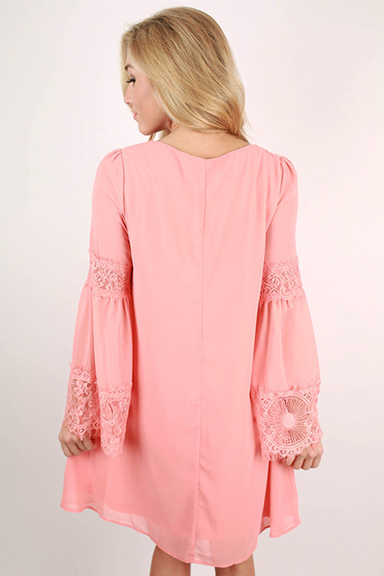 All About That Lace Dress in Peach