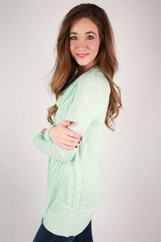 Glamorous Cozy Sweater in Mint