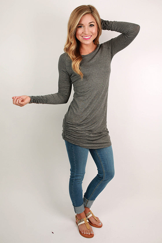 Smooth Sailing Tee in Charcoal