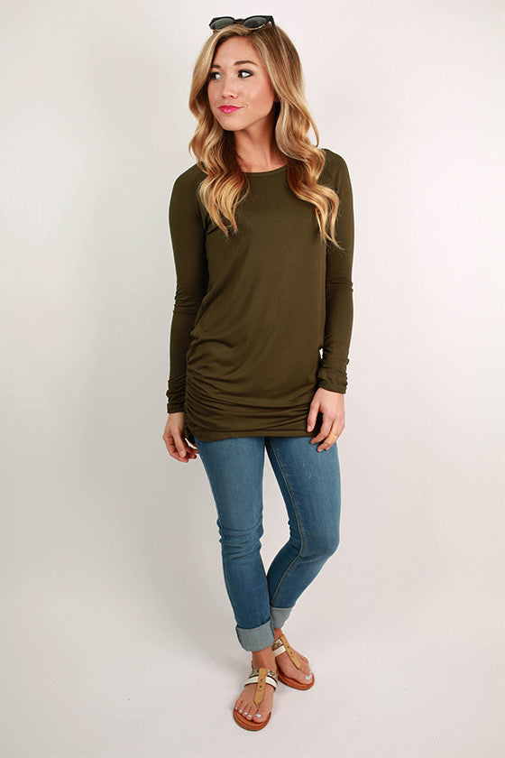 Smooth Sailing Tee in Army