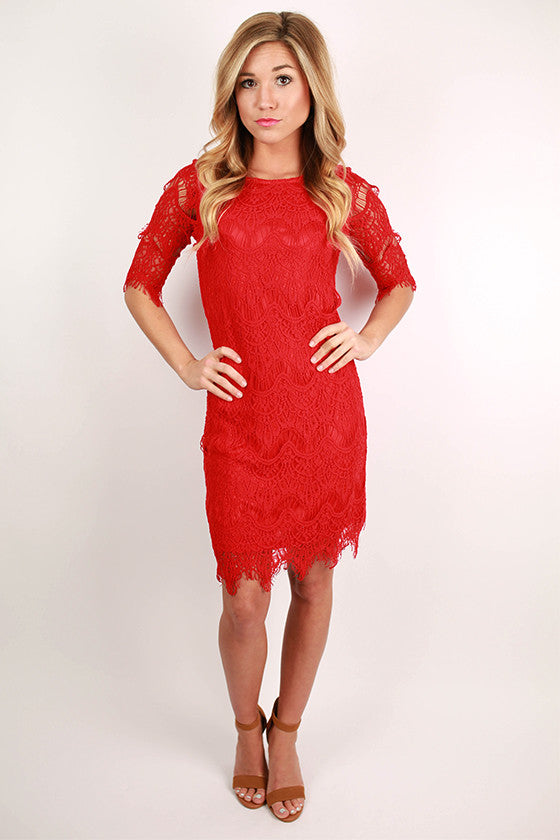 Girl Of Your Dreams Dress in Red