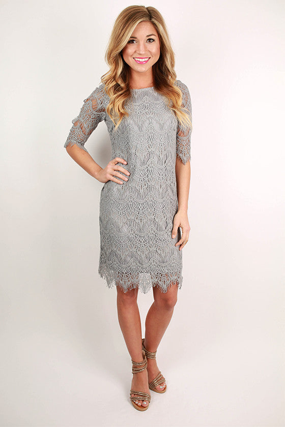 Girl Of Your Dreams Dress in Silver
