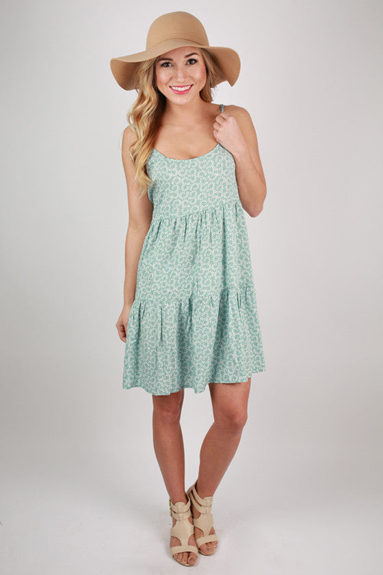 Twirls For Days Baby Doll Dress in Aqua Sky